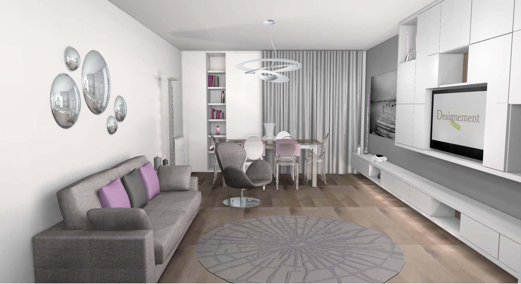 Optimisation et d coration d 39 un appartement 3 pi ces for Decoration sejour contemporain