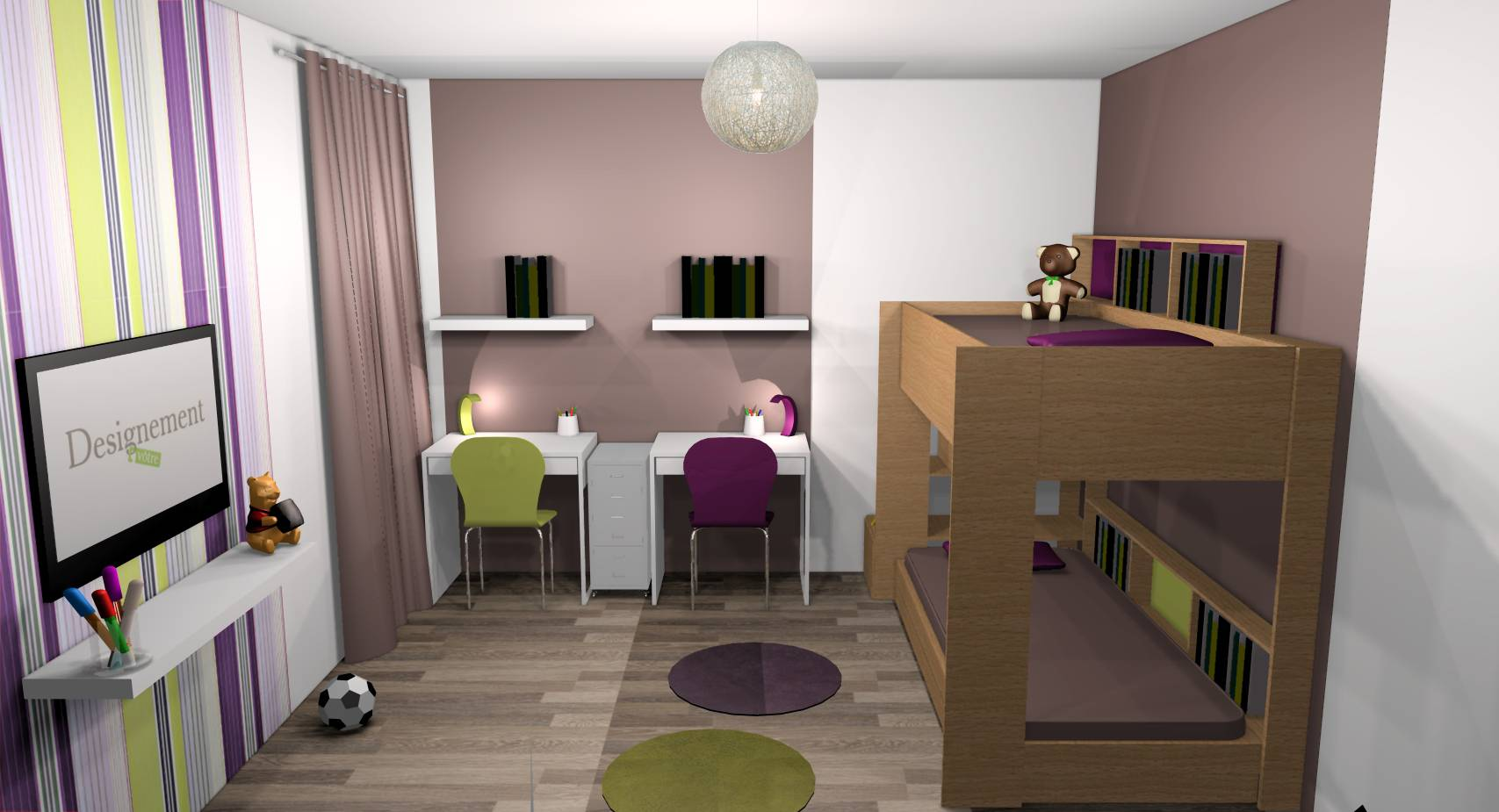 Emejing Chambre Bebe Prune Et Taupe Photos - House Design ...