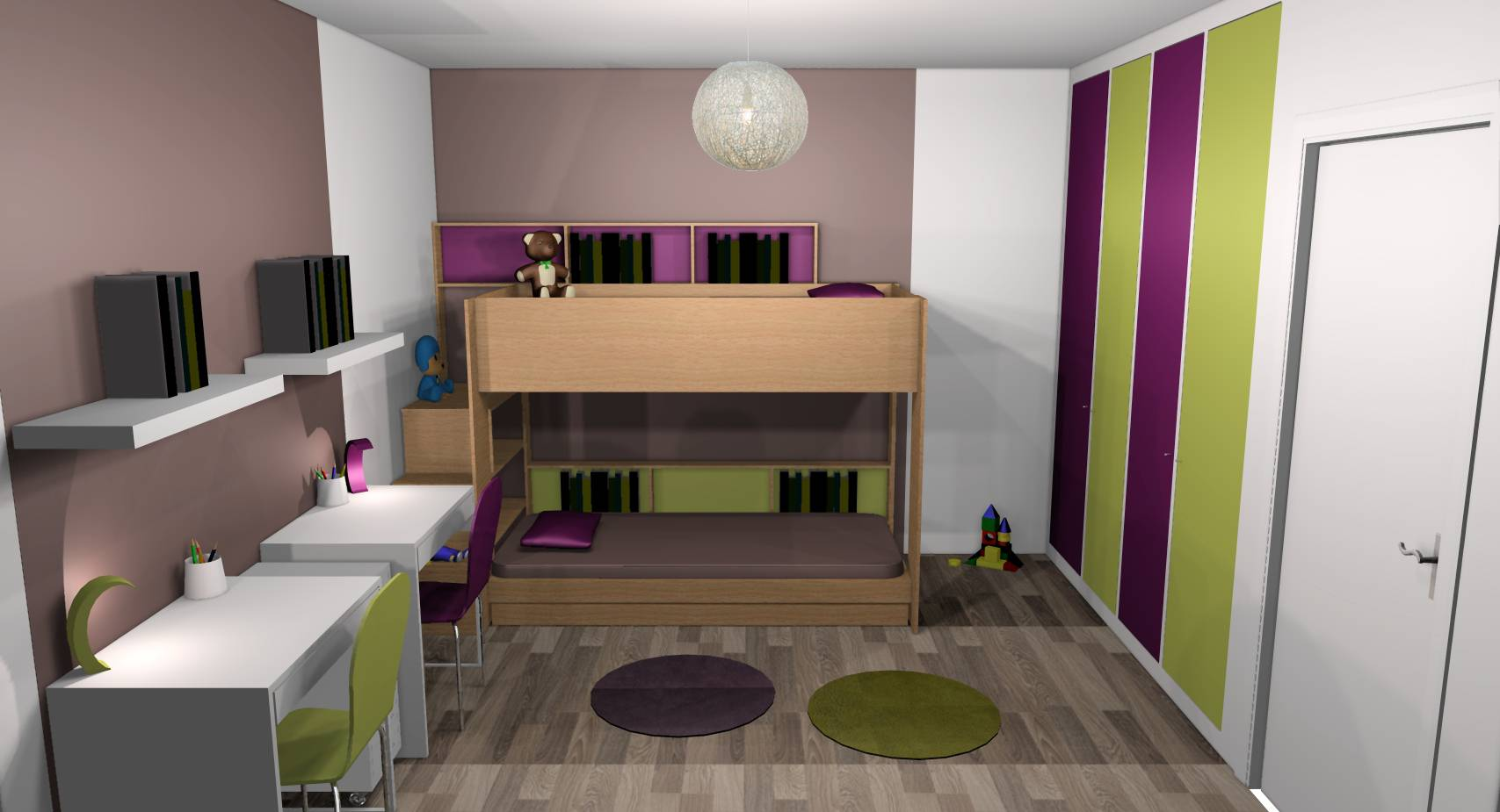 Chambre Enfants Mixte - Fashion Designs