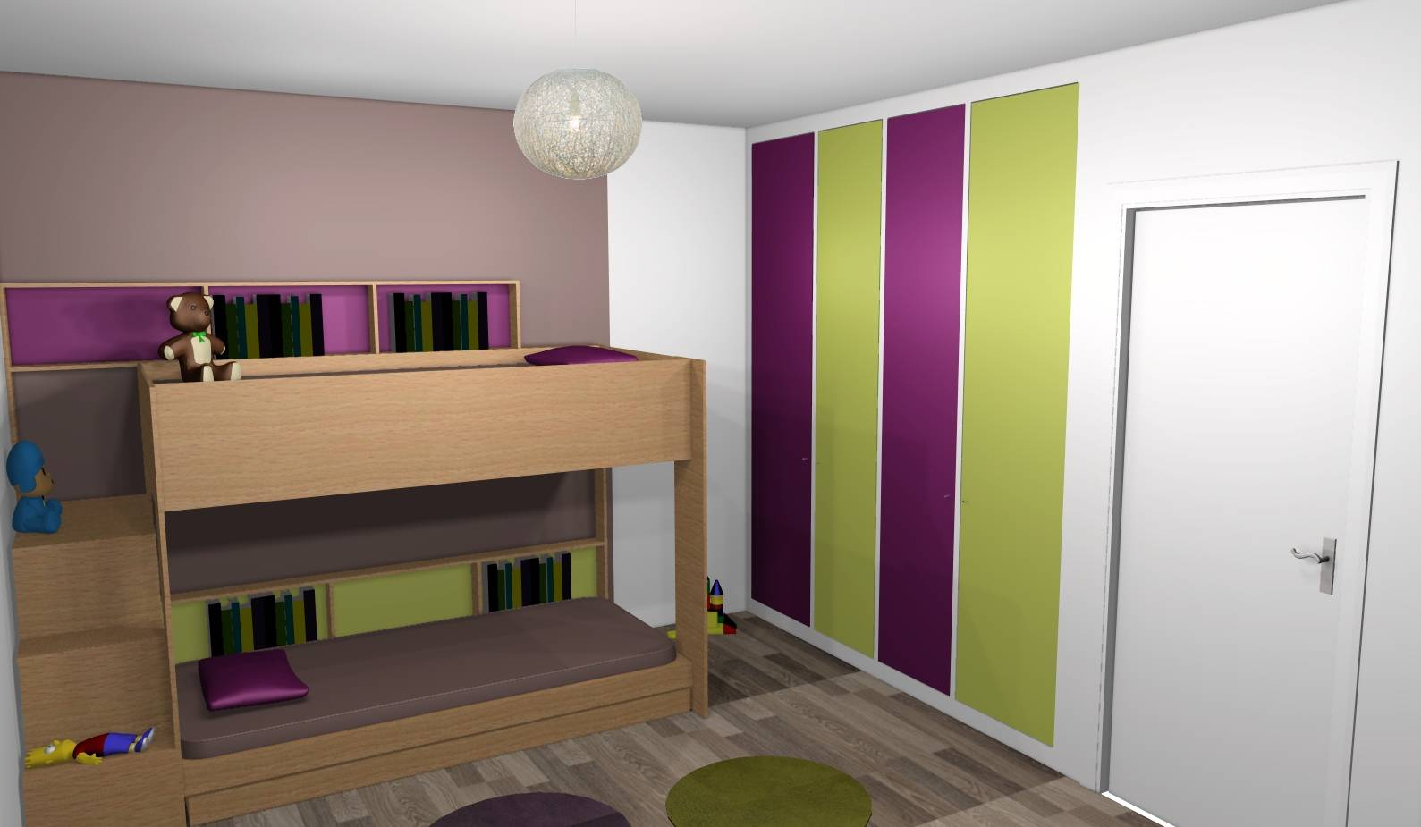 D co chambre vert et taupe for Chambre verte