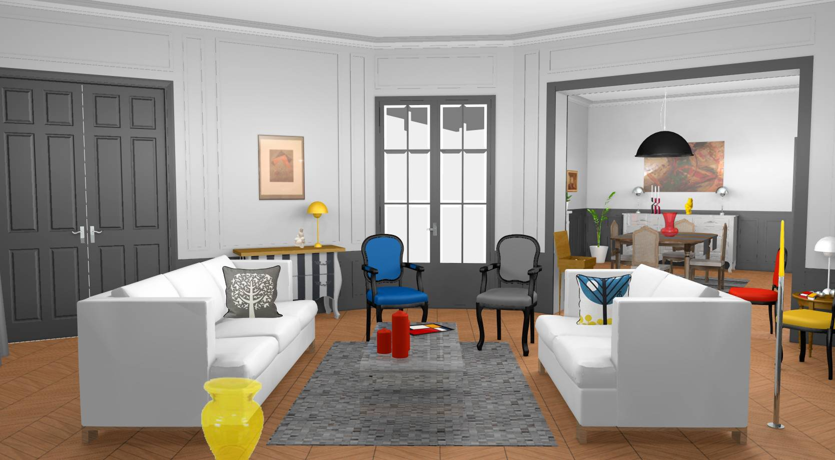 décoration et modernisation d'un appartement haussmannien à paris