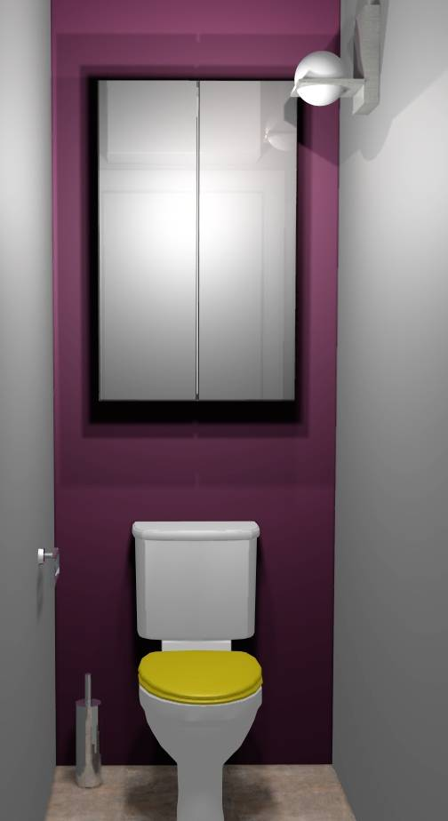 D coration wc vert for Photo deco wc