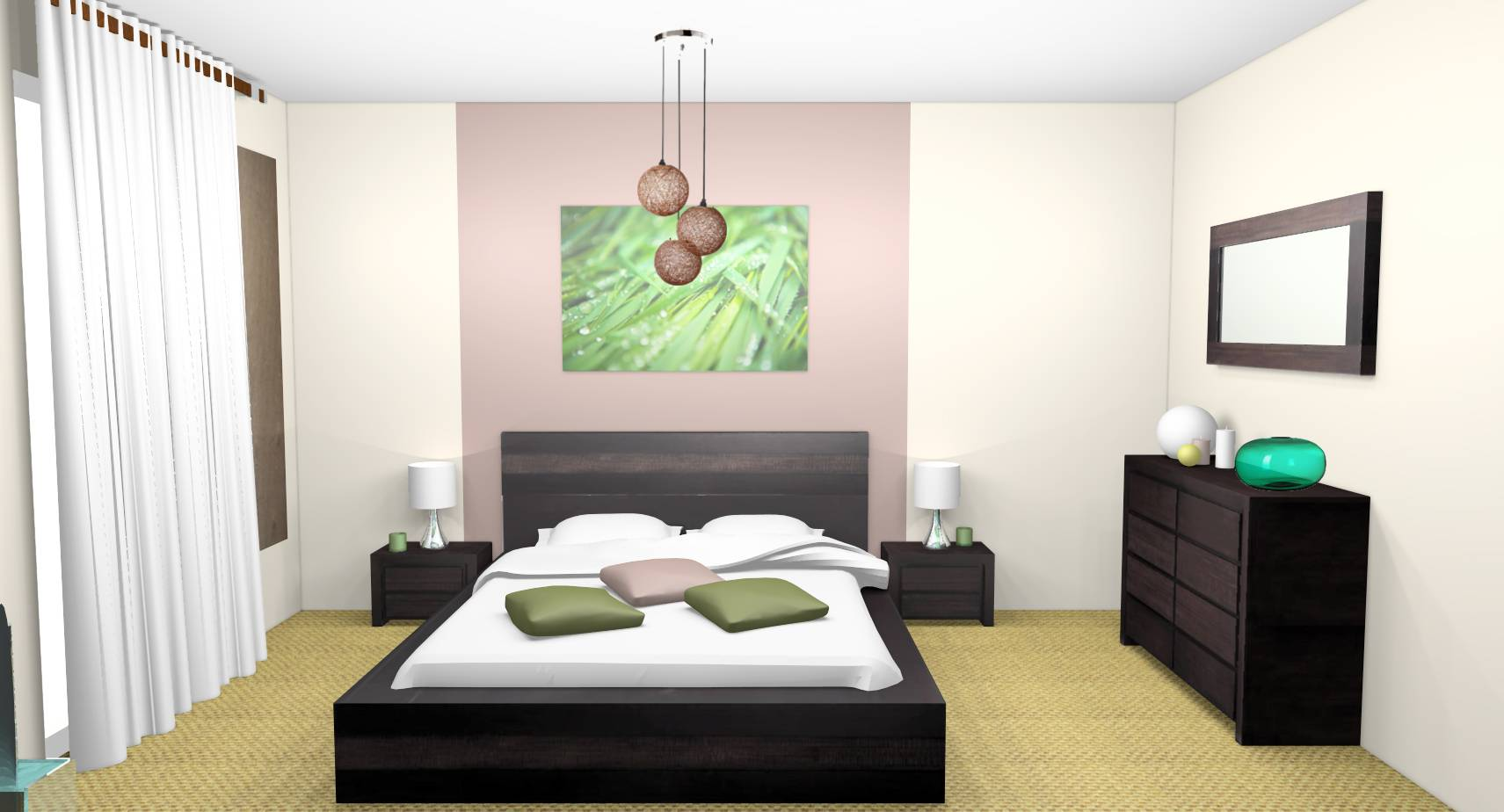 D co chambre zen adulte for Decoration chambres a coucher adultes