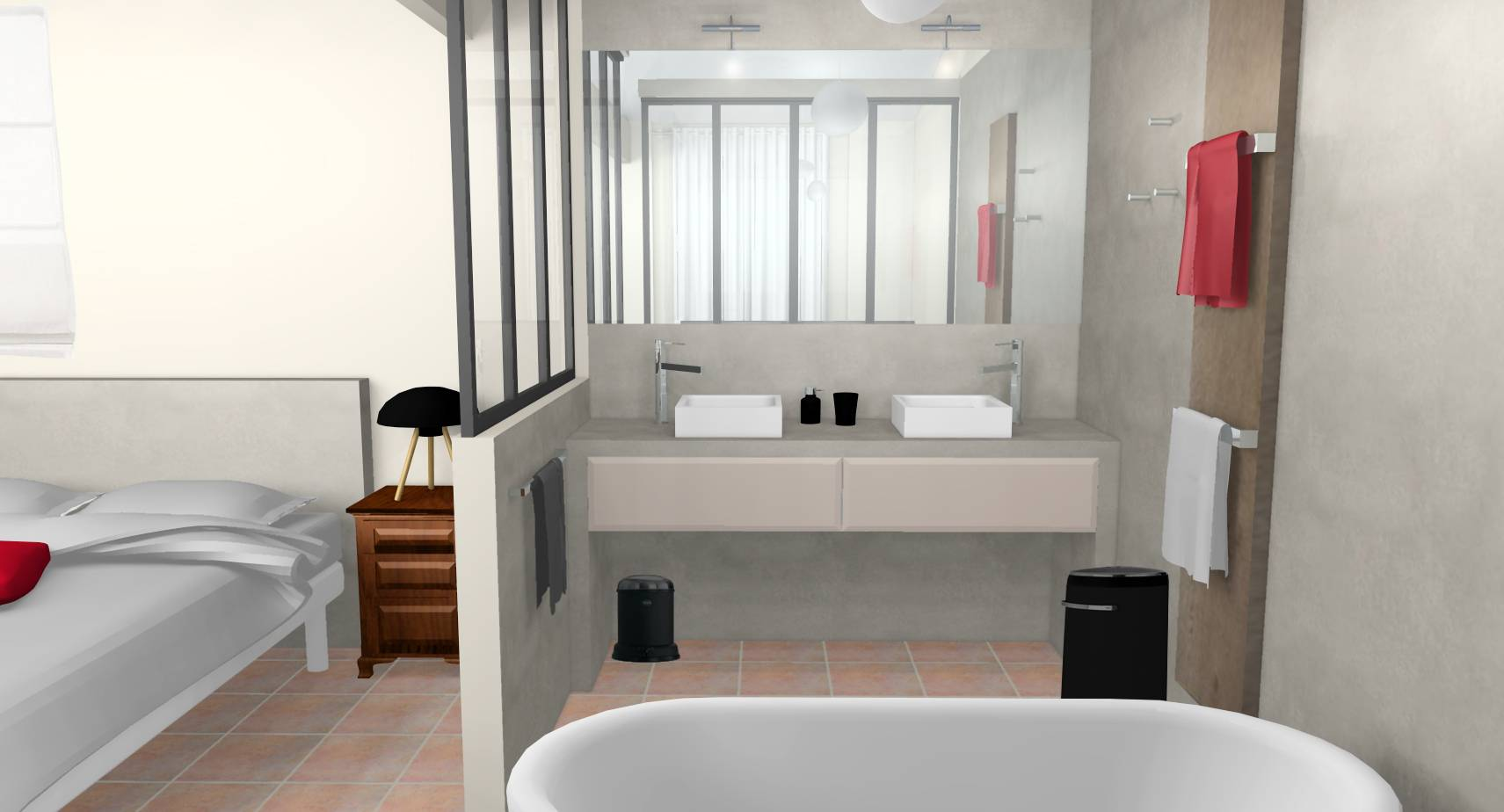 salle bain campagne revisitee moderne accueil design et. Black Bedroom Furniture Sets. Home Design Ideas