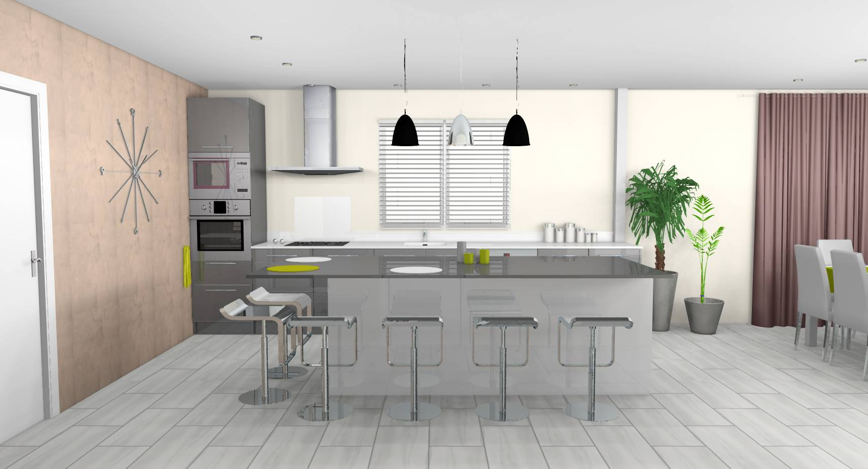 D co cuisine americaine design - Decoration de cuisine moderne ...