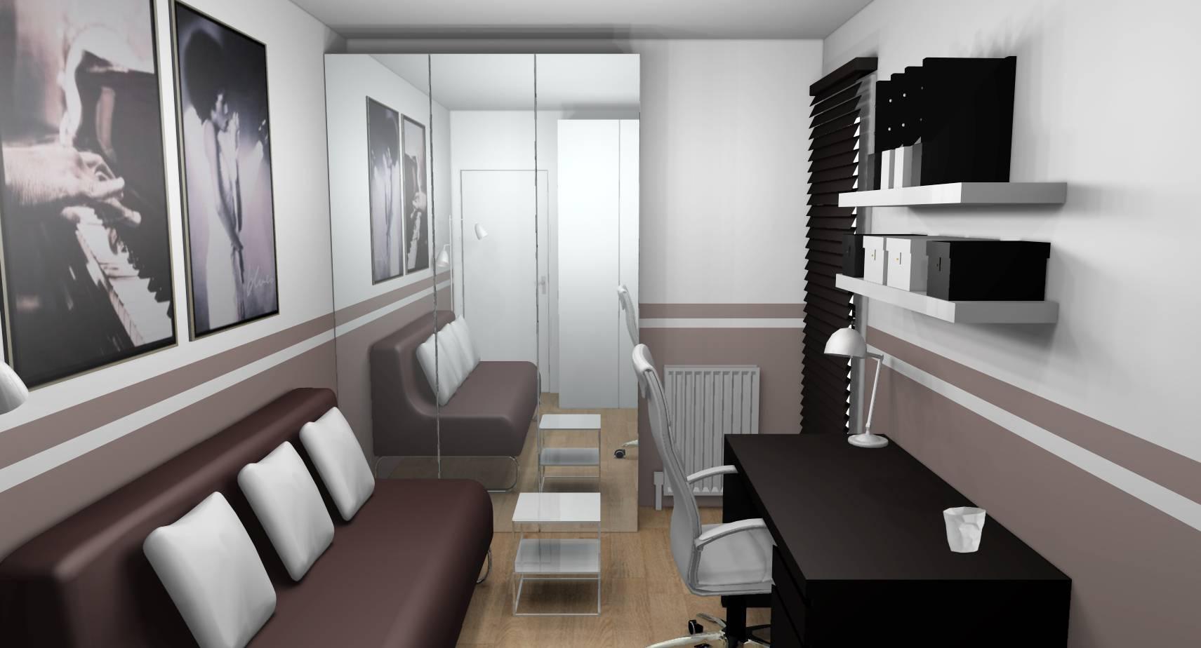 Deco Chambre Ami Bureau décoration d'intérieur d'une chambre d'amis - bureau à