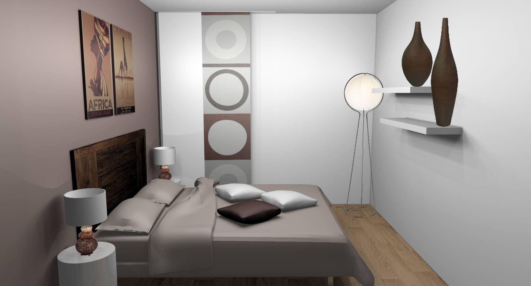 Décoration Chambre Adulte Mur Blanc décoration d'intérieur d'une chambre à damarie-les-lys (77