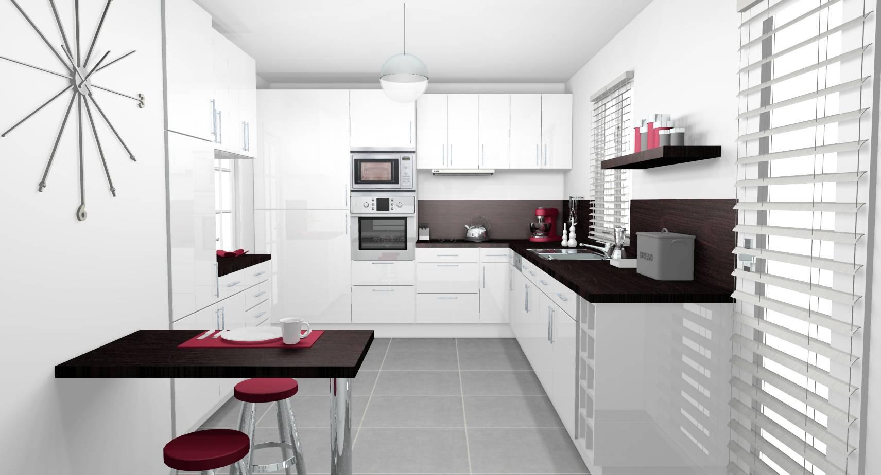 Decoration Cuisine Moderne Blanche décoration d'intérieur d'une cuisine à eaubonne (95