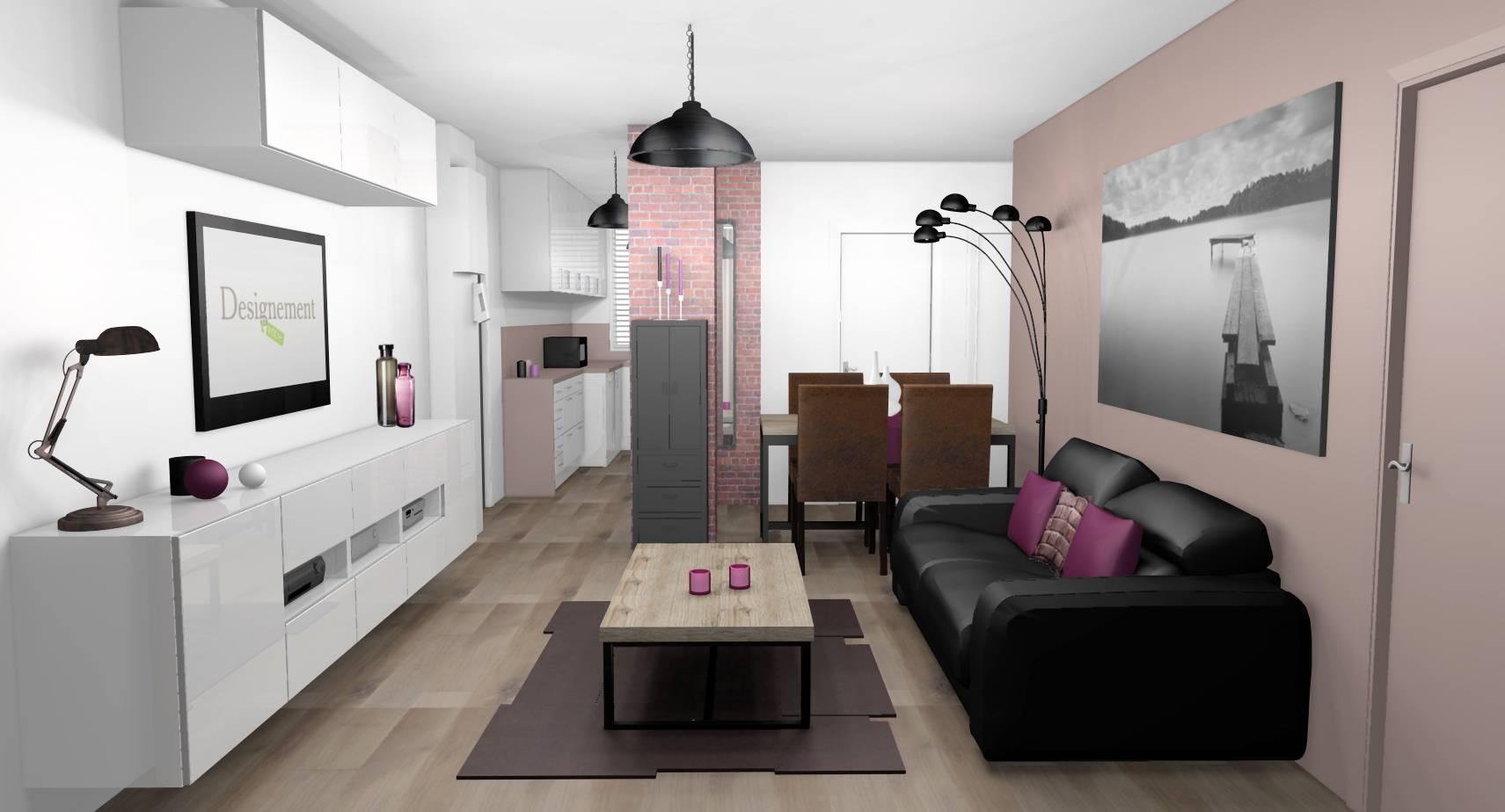 Idée Déco Appartement Jeune décoration d'intérieur d'un séjour à romainville (93