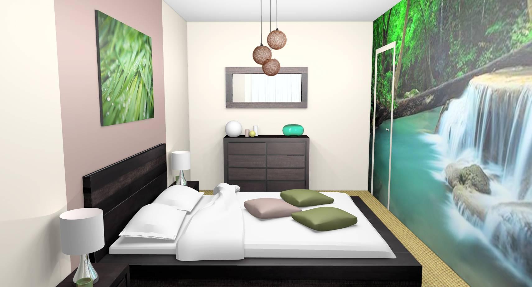 Déco Chambre À Coucher Adulte décoration de deux chambres d'amis et d'une salle de bain à