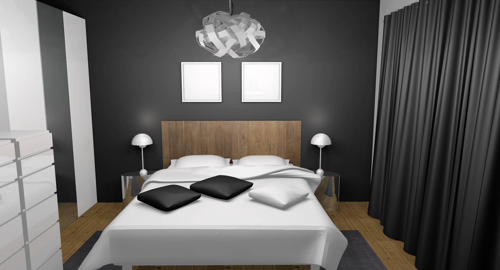 Chambre Couleur Gris Blanc réagencement et décoration d'une chambre adulte à sceaux (92