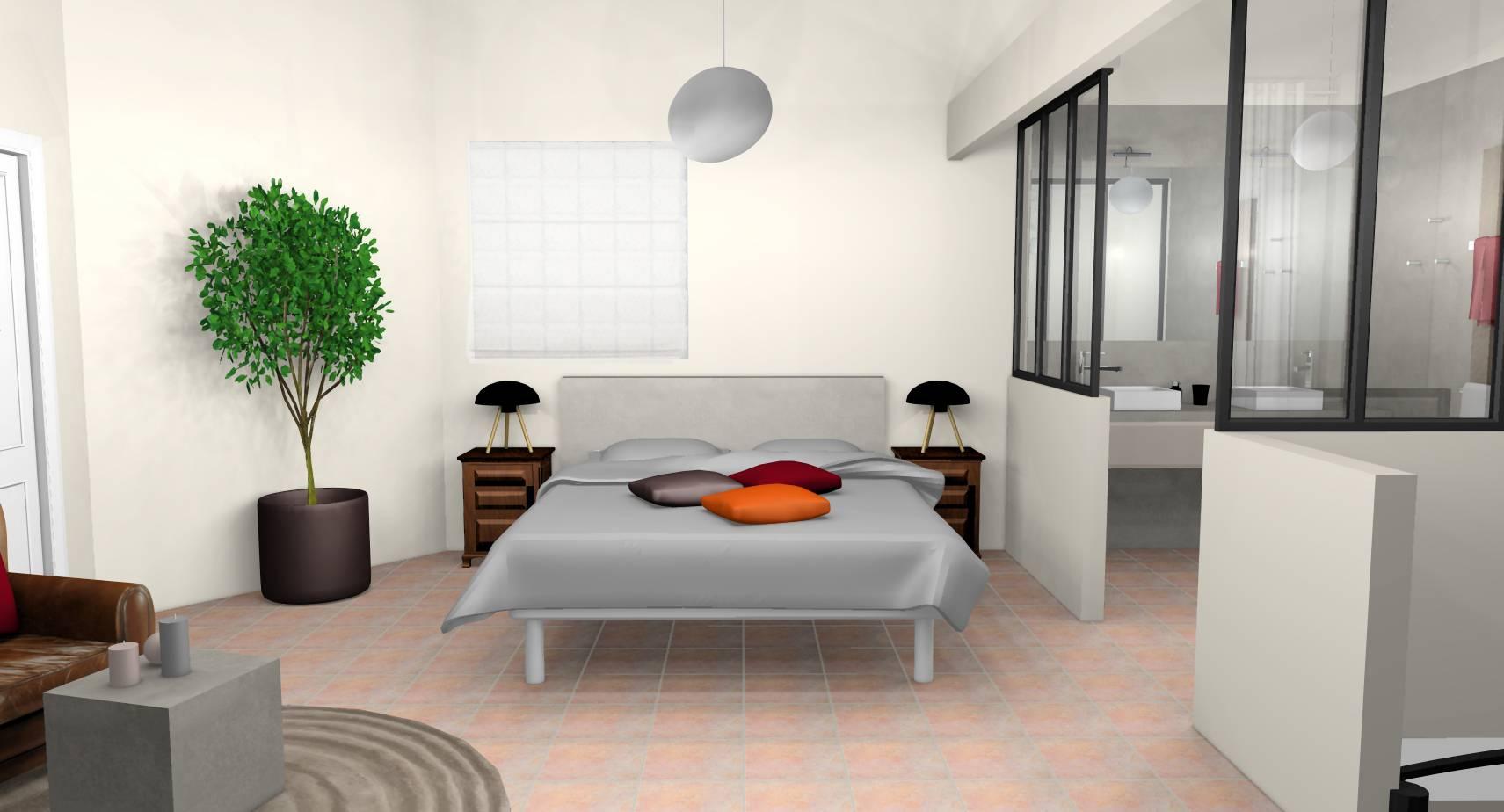 Aménagement Intérieur Salle Bain décoration d'intérieur d'une suite - espace chambre à linas