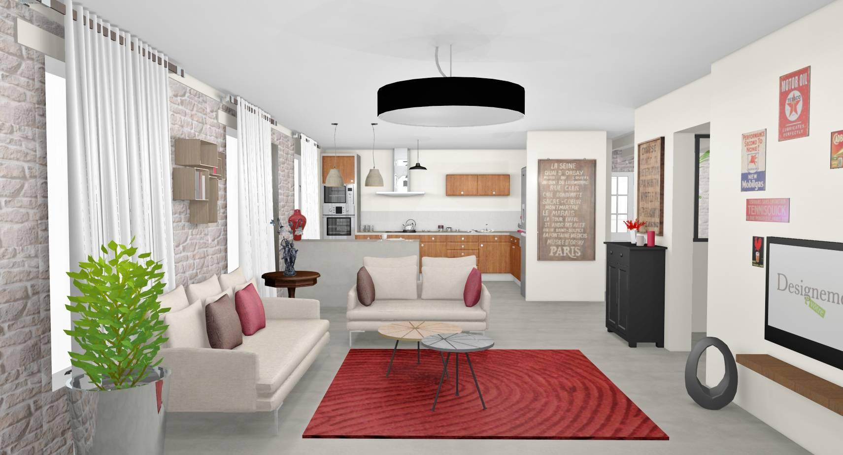 Cuisine Maison Campagne décoration d'une maison complète à linas (91) - designement