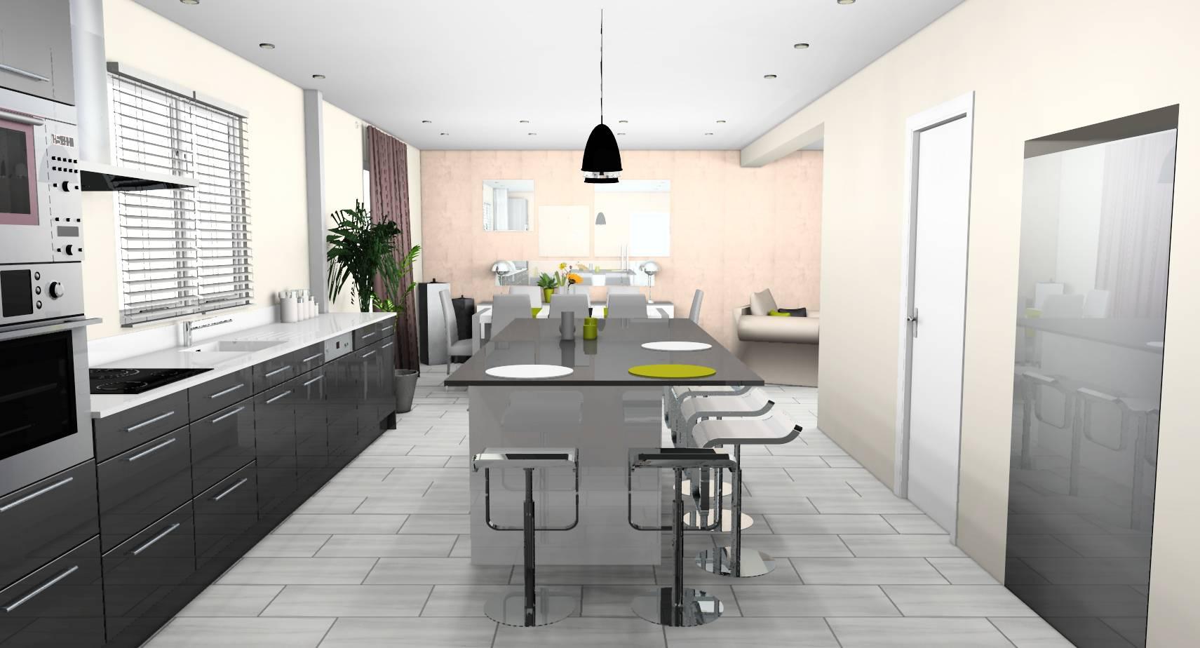 Beton Ciré Blanc Plan De Travail décoration d'intérieur d'une cuisine à vaux-le-pénil (77